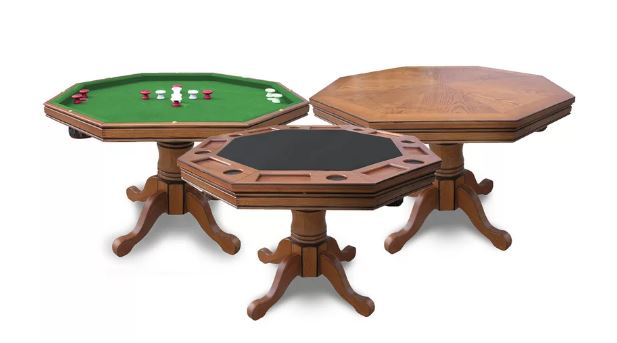 """Hathaway Games 48"""" Kingston Poker and Bumper Pool Table"""