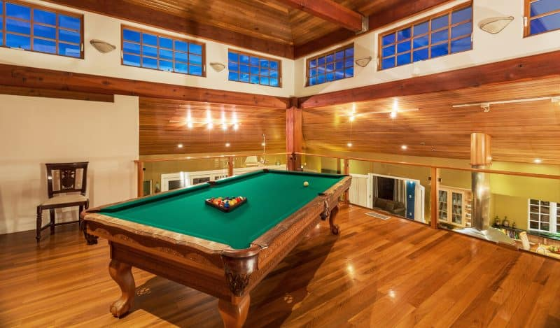 cool wooden pool table
